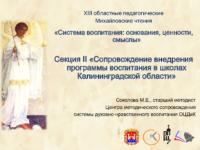 Презентация Деятельность педагога тренера по сопровождению внедрения Программы воспитания